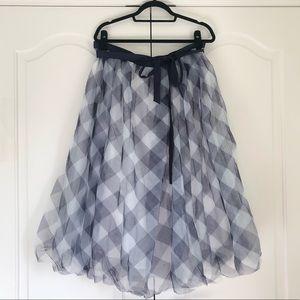 J. Crew Gingham Ballgown skirt size 16